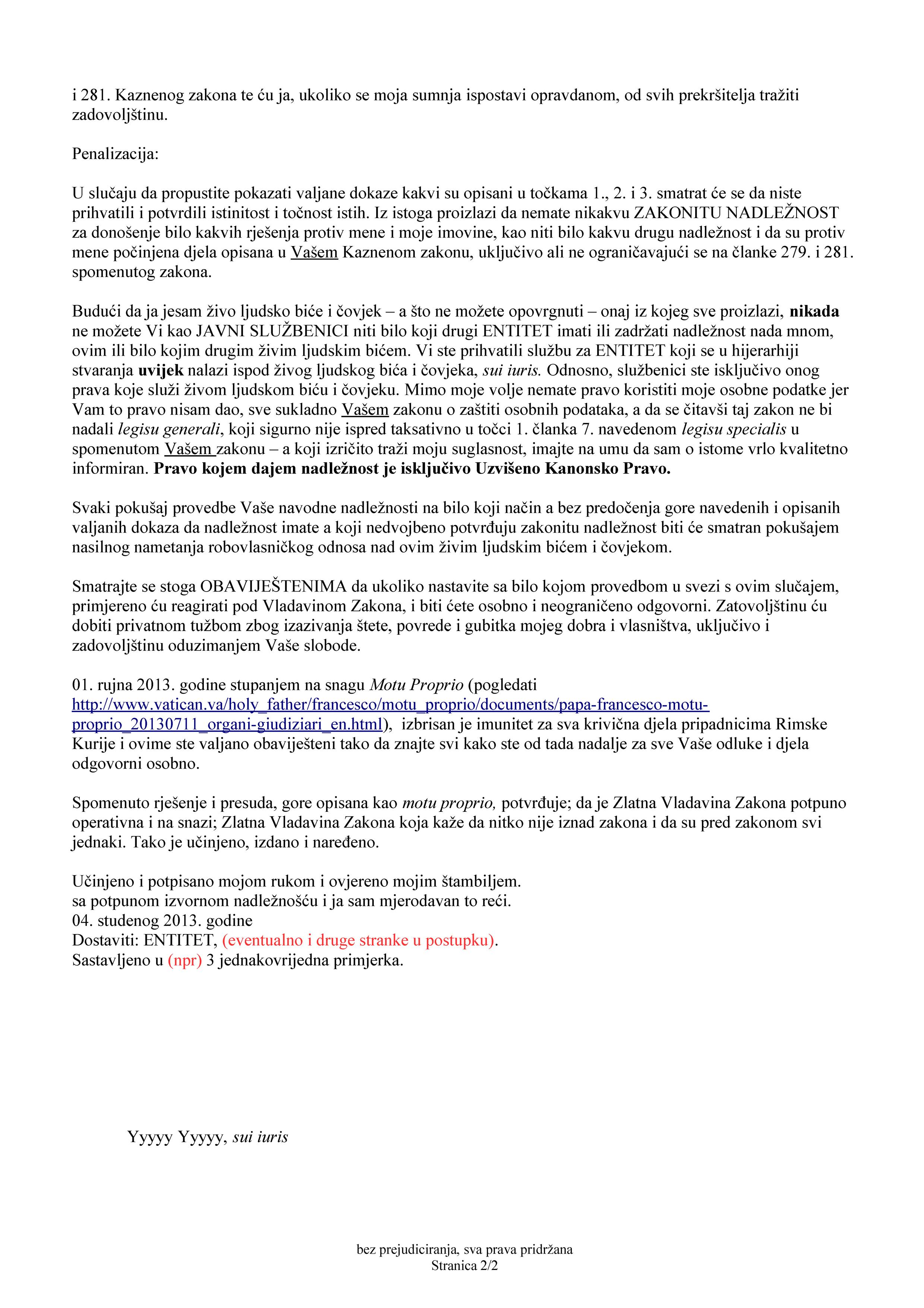 Predložak pisma za osporavanje nadležnosti suda 2_str_2